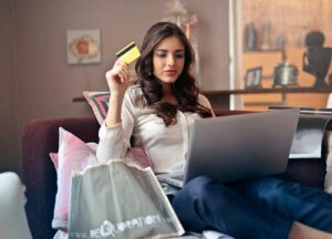 lady with laptop