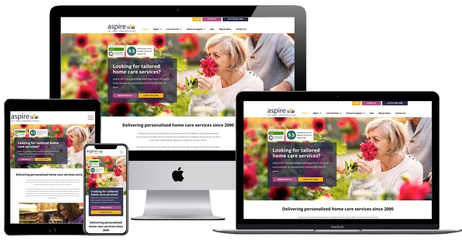 Bring your business vision to life - Aspire UK responsive website