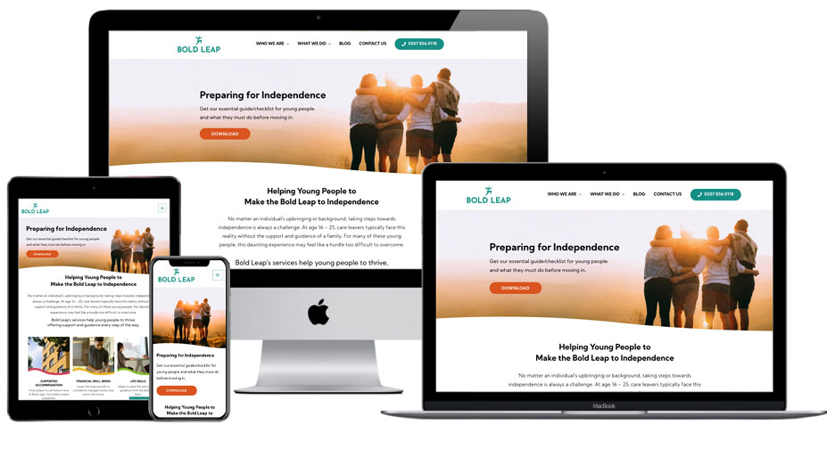 Bring your business vision to life - Bold Leap responsive website